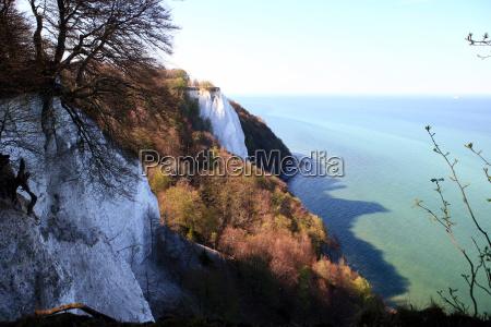 chalk cliffs at koenigsstuhl