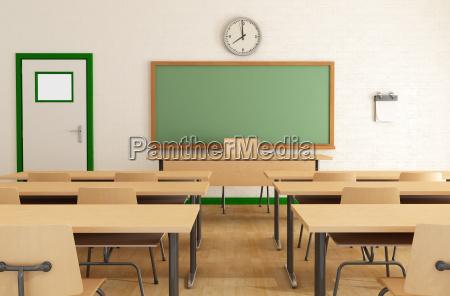 klassenzimmer ohne studenten