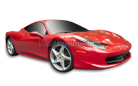 sports car isolated
