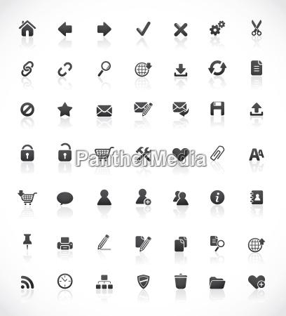 web und office symbole
