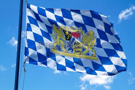 wehende bayern flagge