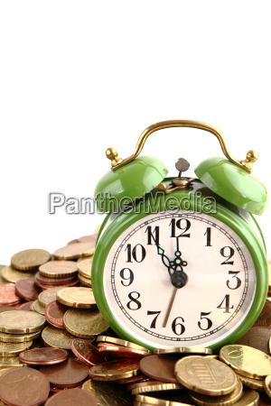 clock time coins business dealings deal
