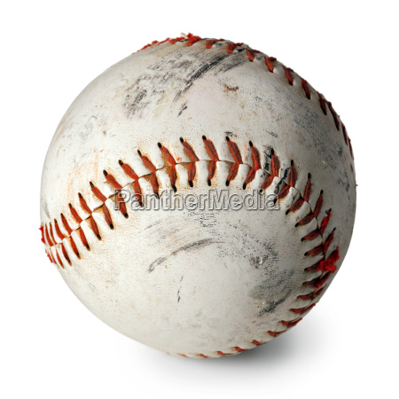 old baseball isolated