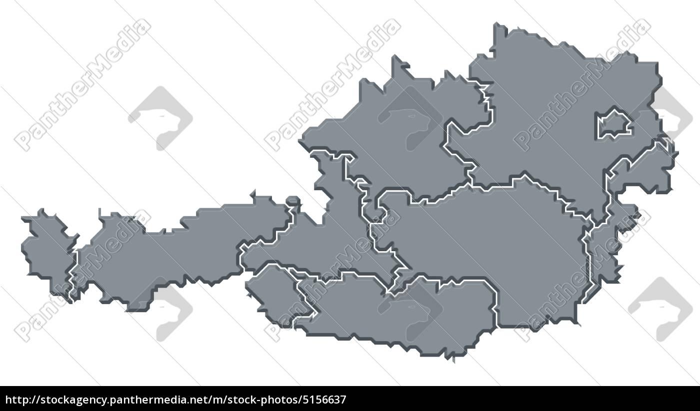 Map of Austria - Stockfoto - #5156637 - Bildagentur PantherMedia