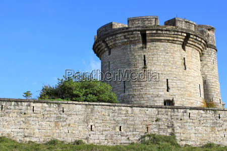 fortifications of a castle