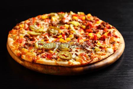braun braeunlich bruenett braune mexikanisch pizza