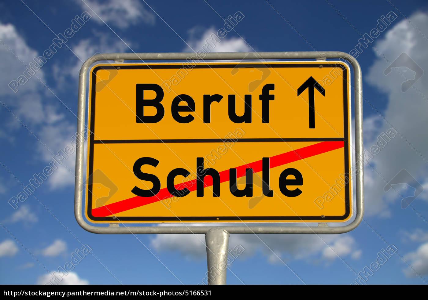 deutsches, ortsschild, schule, beruf - 5166531