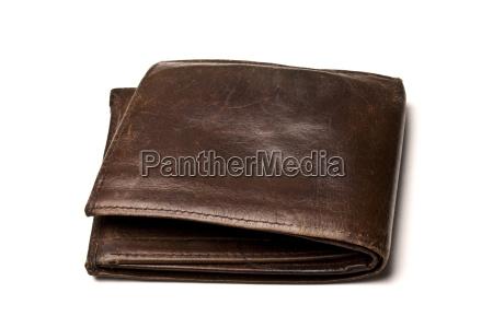 brown brieftasche isoliert auf weiss