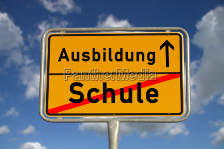 german town sign school education