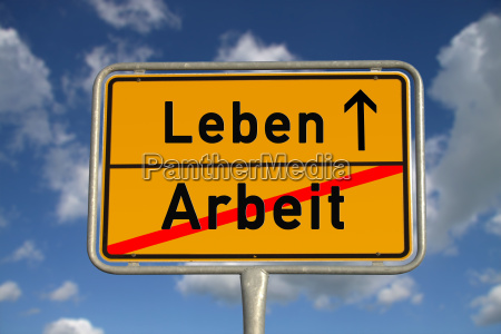 german ortsschild working life