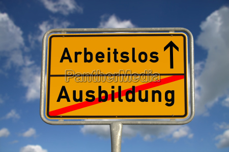 german ortsschild training unemployed