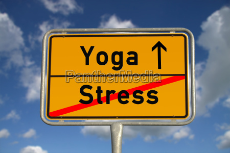german ortsschild stress yoga
