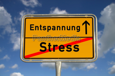 german town sign stress relaxation