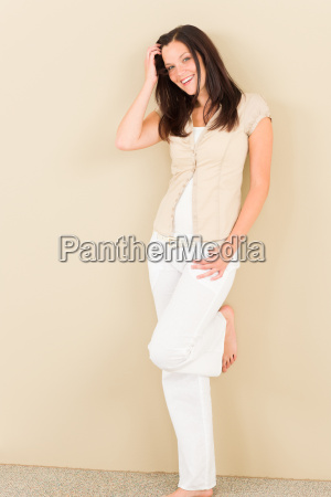 casual business woman attractive relax pose