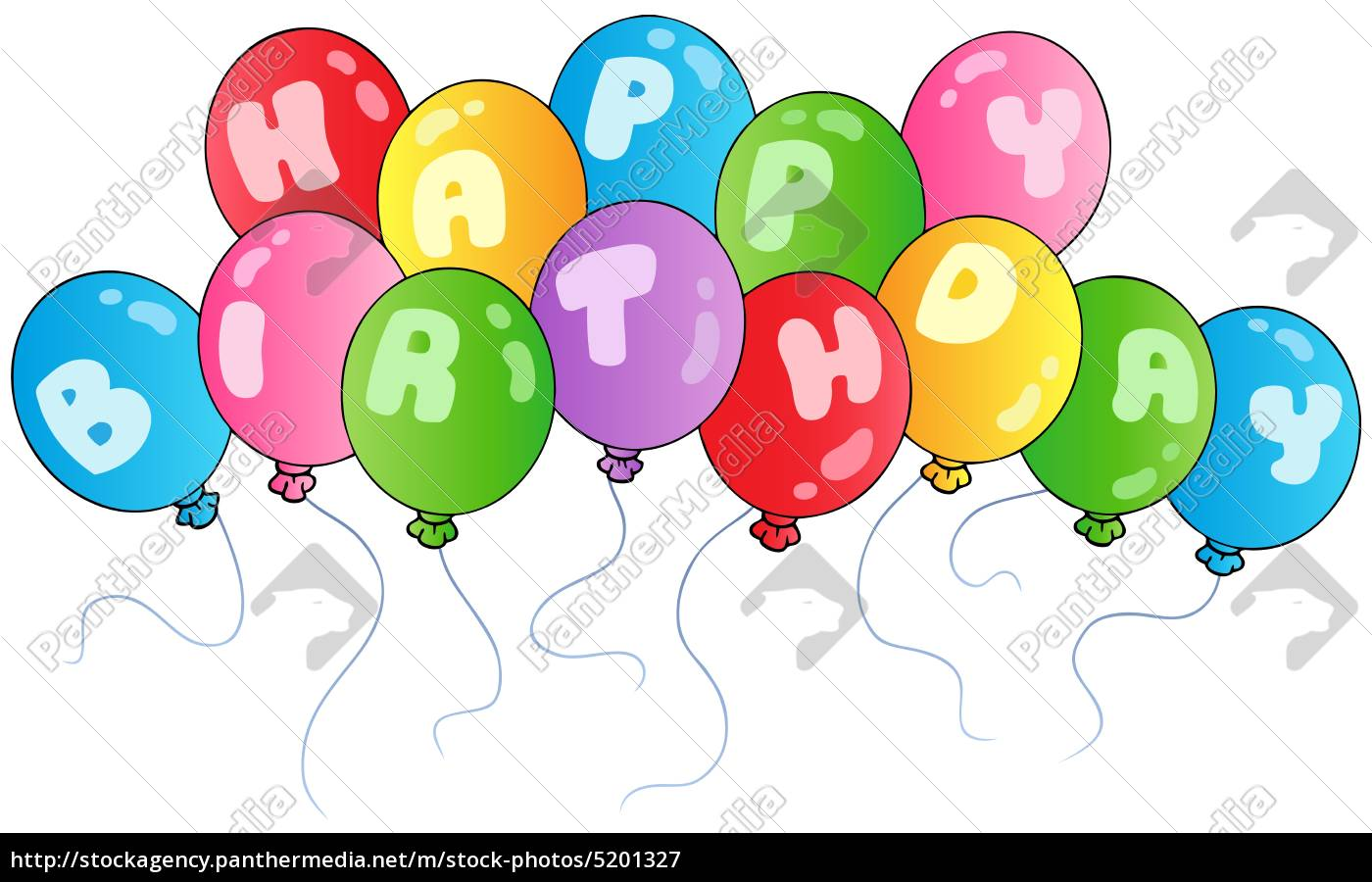 Alles Gute Zum Geburtstag Ballons Lizenzfreies Bild 5201327