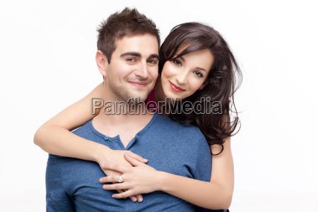 happy in love couple posing