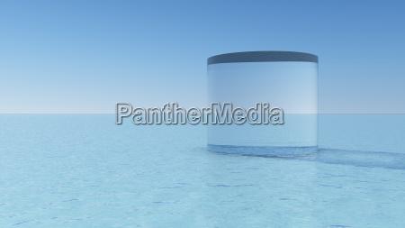 geometrische figuren aus glas auf einer