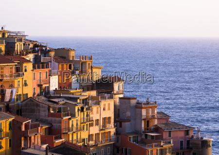 colourful riomaggiore village of cinque terre
