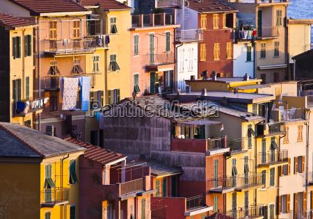 colourful texture of riomaggiore village