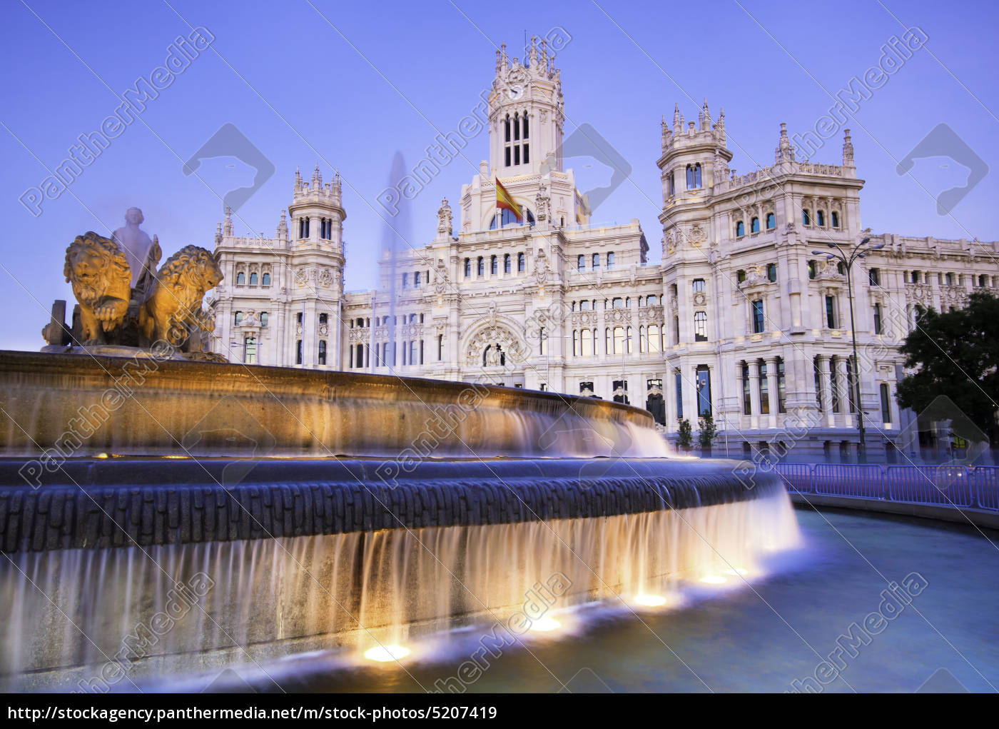 plaza, de, cibeles, madrid, spanien. - 5207419