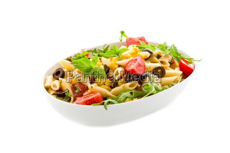 pasta salat isoliert