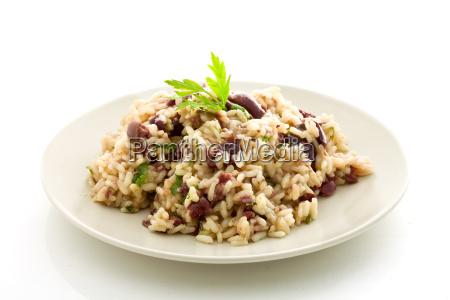 risotto mit schwarzen oliven