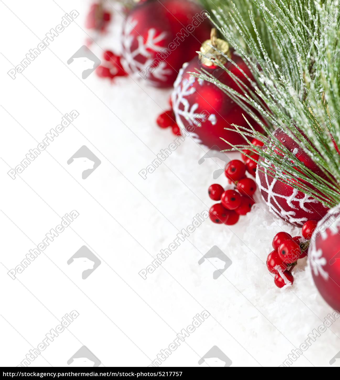 rote weihnachten ornamente grenze - Lizenzfreies Bild - #5217757 ...