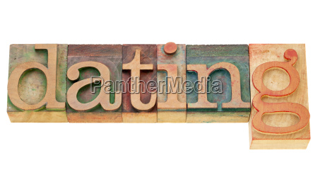 dating word in letterpress type
