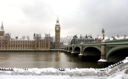 schnee bedeckt westminster