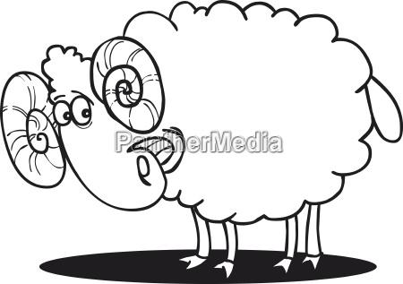happy ram coloring page