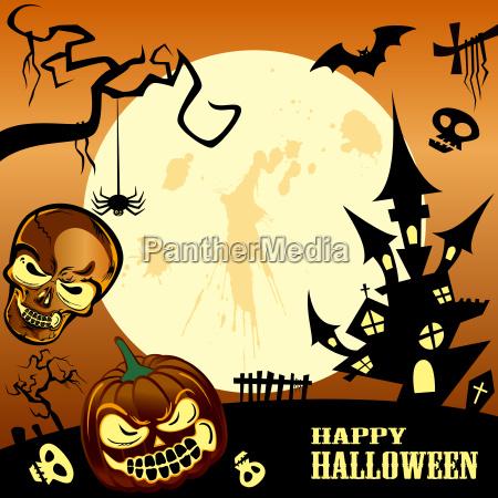 gluecklicher halloween rahmen