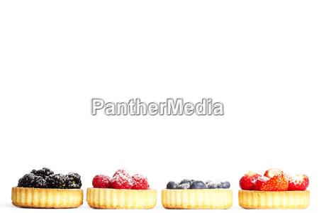series sugared berries in tartlet cake