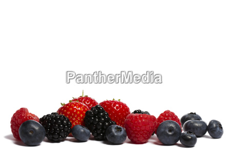 blueberries raspberries strawberries and blackberries mix
