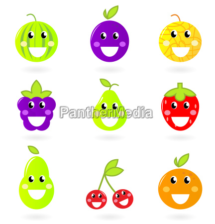 fruity icon collection nine fruit