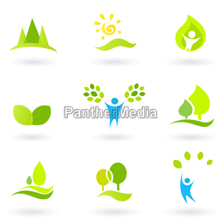tree leaves and ecology vector icon