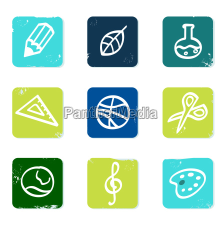 school and education icons set amp