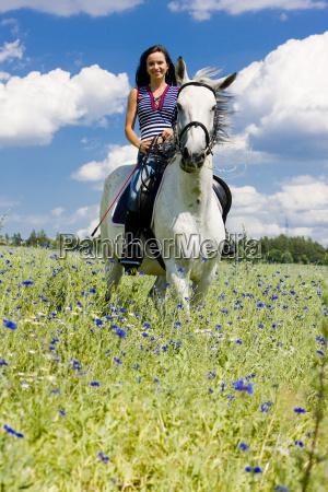 equestrian on horseback