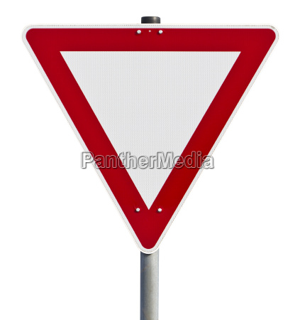 give way traffic sign clipping