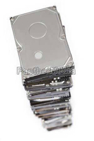 stack of hard drives