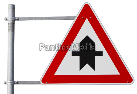 german right of way sign clipping