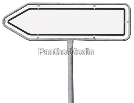 direction sign in arrow shape clipping