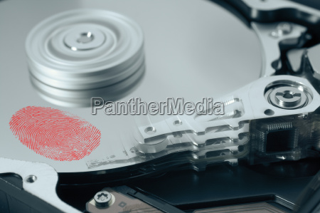 fingerprint on hard disk drive
