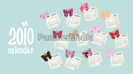 calendar 2010 butterfly design
