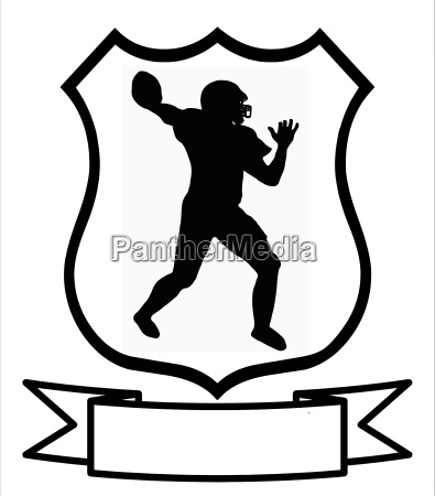 american football sport shield