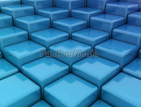 blue abstract cube
