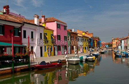 at the canal in burano
