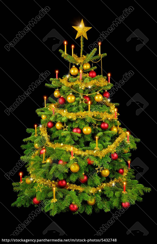 Weihnachtsbaum Schwarz.Lizenzfreies Foto 5432748 Prachtvoller Weihnachtsbaum Auf Schwarz