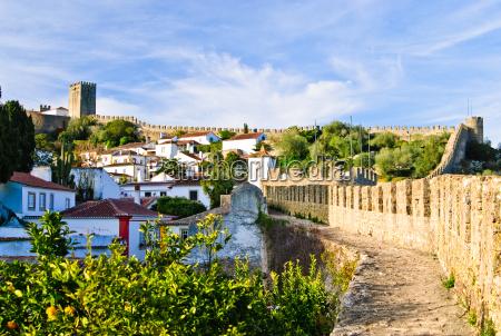 mittelalterliche stadt obidos portugal