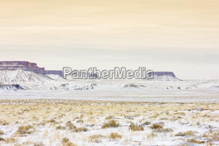 winter landscape of colorado usa