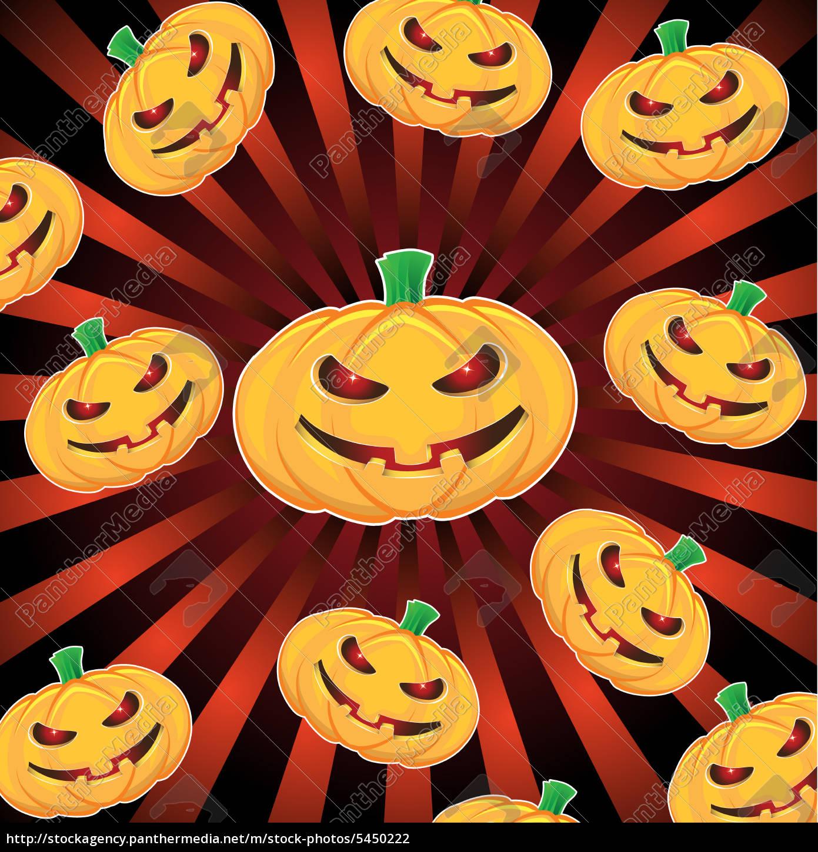 halloween-kürbisse, mit, ray, hintergrund - 5450222